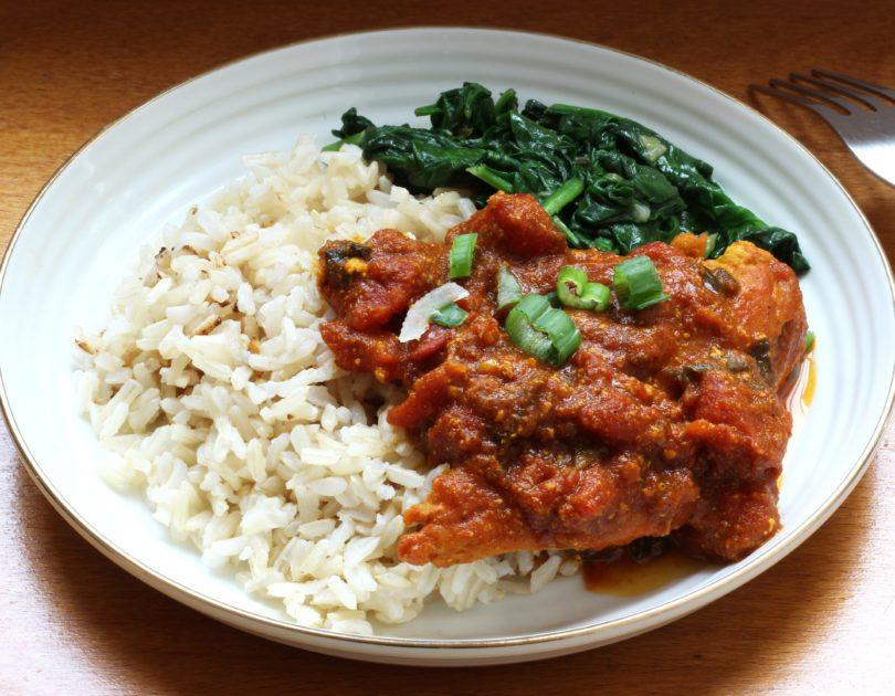 Poulet curry masala et riz thaï complet