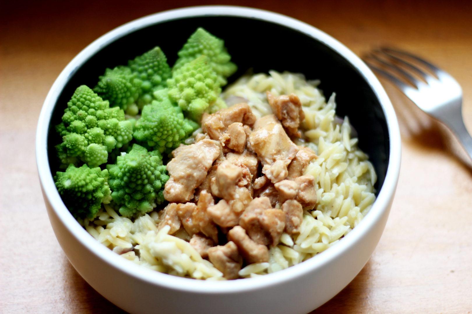émincé-poulet-sauce-soja-gingembre-pates-avoine-christophine-lait-coco