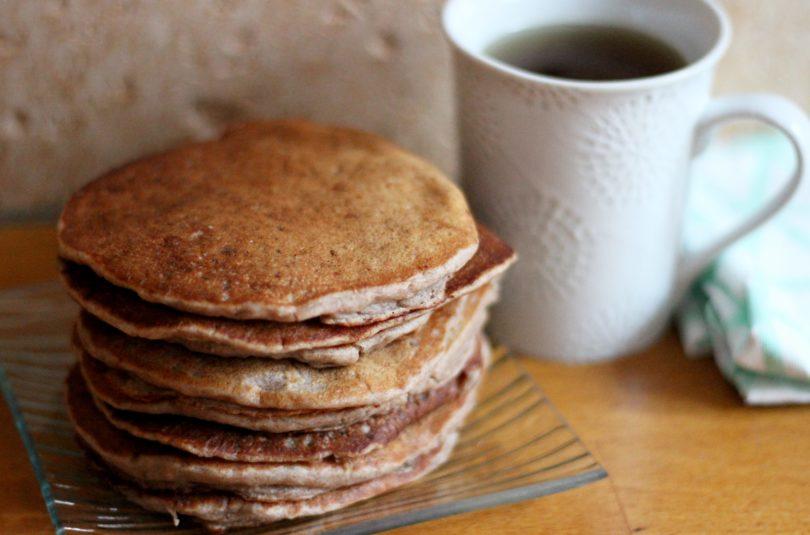 Pancakes à la banane et flocons d'avoine