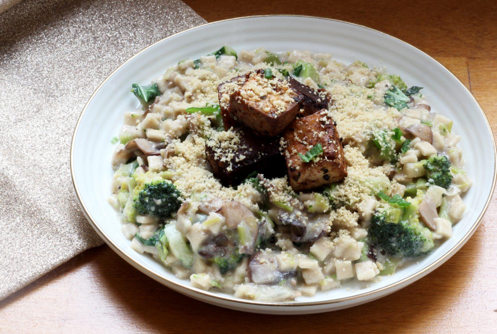 crozets-aux-champignons-légumes-verts-et-sauce-fauxmagère