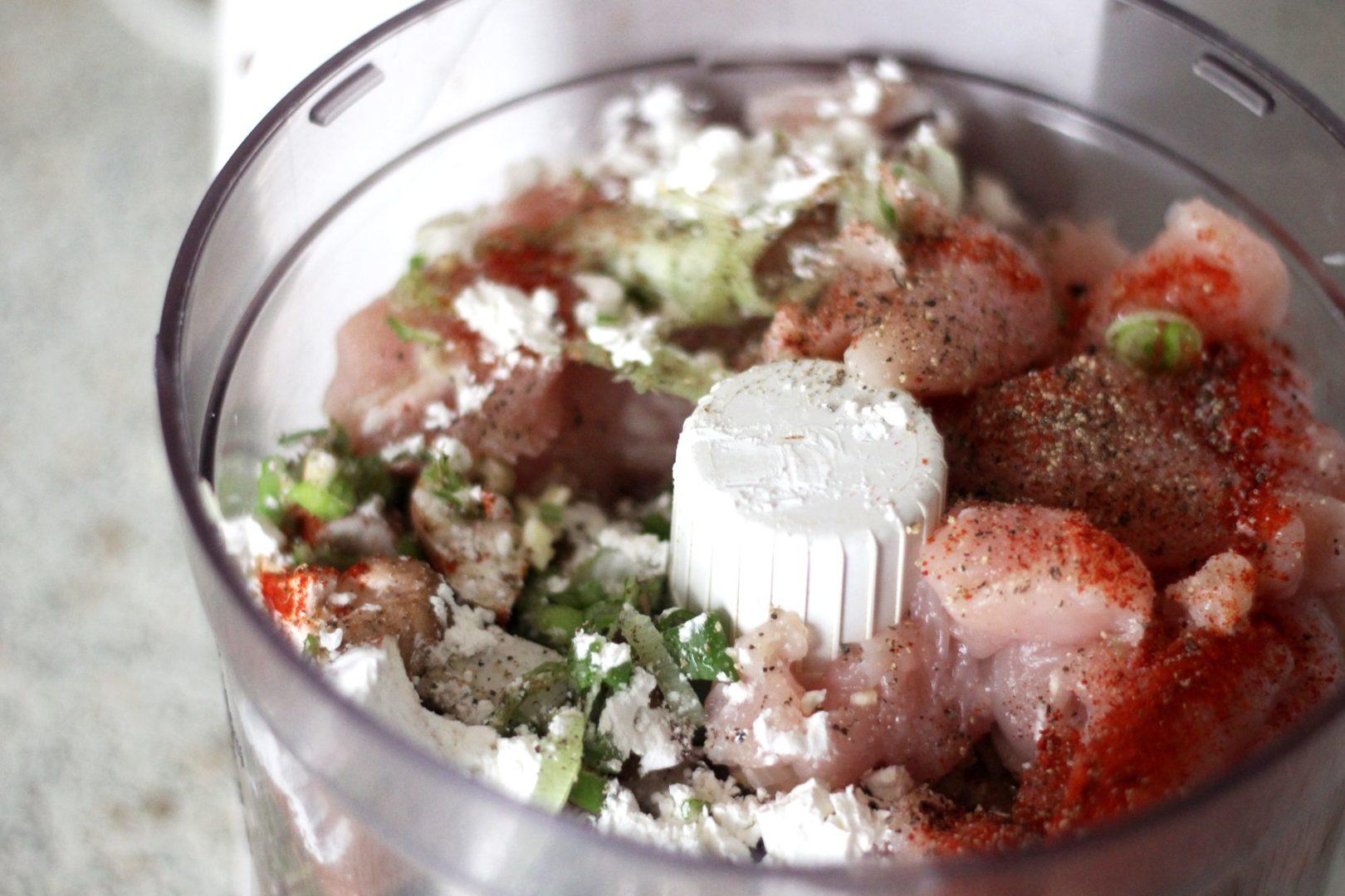 Boulettes de poulet à la japonaise et légumes d'hiver rôtis