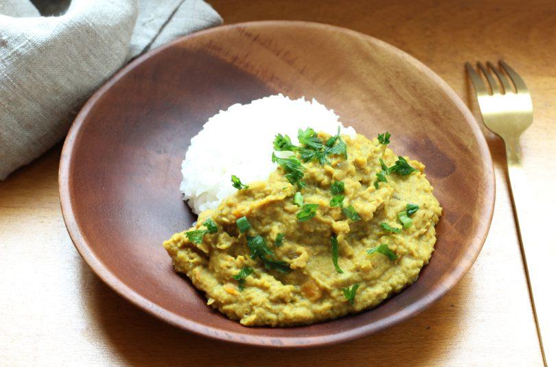 Dahl de lentilles corail et riz thaï